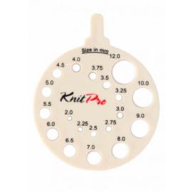 Knitpro Breinaaldenmeter Rond Wit