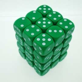 Groene Dobbelstenen - 12mm