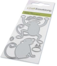 CraftEmotions Die - apen Card 5x10cm Carla Creaties