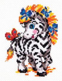 Borduurpakket Little zebra - Chudo Igla