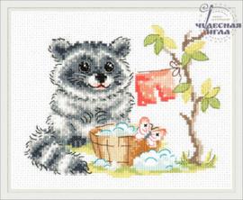 Borduurpakket Raccoon - Chudo Igla (Magic Needle)