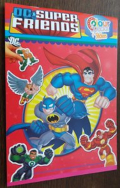 Kleurboek Met Stickers - Dc Super Friends