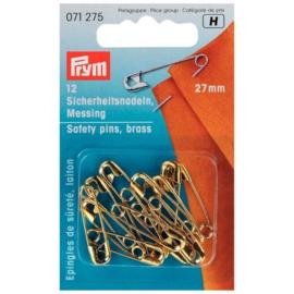 Veiligheidsspelden Goud 27mm