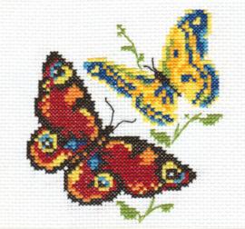 Borduurpakket Beautiful Butterflies - Alisa