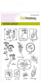 CraftEmotions clearstamps A6 - kruiden labels Life and Garden