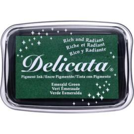 Delicata inktkussen smaragdgroen
