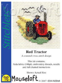 Borduurpakket Red Tractor - MOUSELOFT