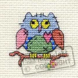 Borduurpakket Patchwork Owl - Mouseloft
