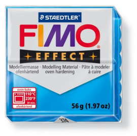 Fimo Effect translucent blauw - 374