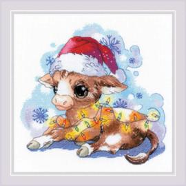 Borduurpakket New Year's Calf - Riolis