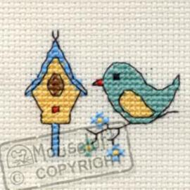 Borduurpakket Bird & Birdhouse - Mouseloft