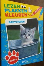 Lezen Plakken Kleuren - Babydieren