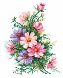 Borduurpakket Cosmos Flowers - Chudo Igla