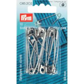 Veiligheidsspelden Zilver 50mm