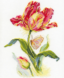 Borduurpakket Tulip and Butterfly - Alisa