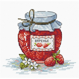 Borduurpakket Aardbeienjam