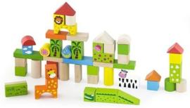 Houten Speelgoedblokken Dierentuin Thema