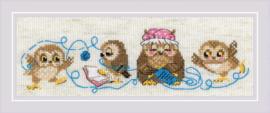Borduurpakket The Owl Family - Riolis