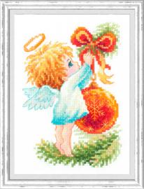 Borduurpakket Christmas Angel - Chudo Igla