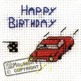 Borduurpakket Birthday Car - MOUSELOFT