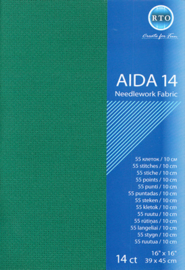 Borduurstof Aida 14 count - Green - RTO