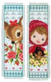 Bladwijzer kit Bambi en Roodkapje set van 2