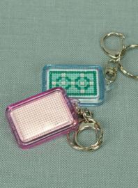 Plexiglas sleutelhanger rechthoek - The Stitch Company