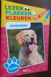 Lezen Plakken Kleuren - Huisdieren