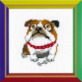 Borduurpakket English Bulldog - RIOLIS