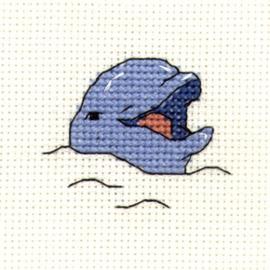 Mini Borduurpakketje Smiling Dolphin - Mouseloft