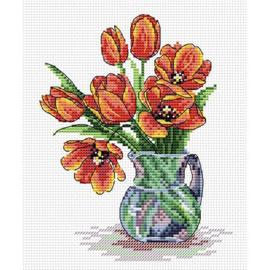 Borduurpakket Spring Tulips - Mp Studia
