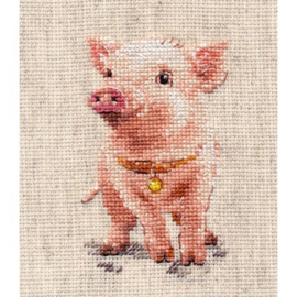 Borduurpakket Piggy - Alisa