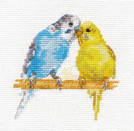 Borduurpakket Parrots - Alisa