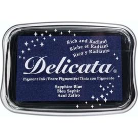 Delicata inktkussen saffier blauw