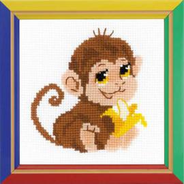 Borduurpakket Monkey - RIOLIS