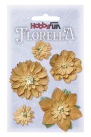 Papieren Bloemen Beige