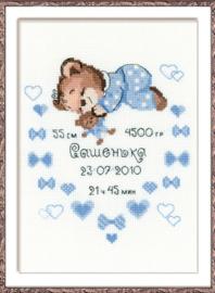 Borduurpakket Certificate Birth of Baby Boy- Riolis