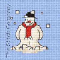 Borduurpakket Christmas  Snowman - MOUSELOFT