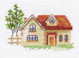 Borduurpakket Sunny House - Alisa