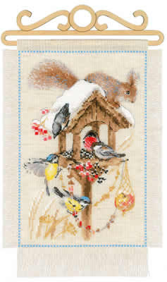Borduurpakket Cottage Garden - Winter - Riolis