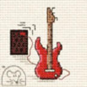 Borduurpakket Electric Guitar - Mouseloft
