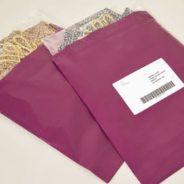Verzendzak large paars- per stuk