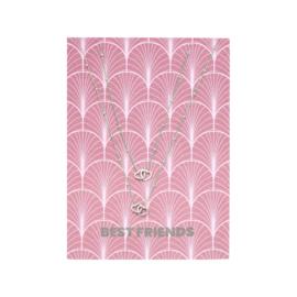 Card Best Friends - zilver