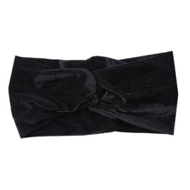Haarband Rib-Velvet - zwart