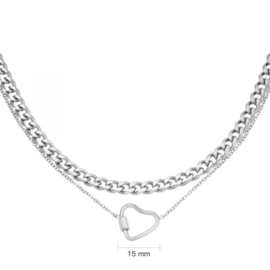 Chained Heart - zilver