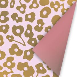 Wild Flower roze/goud