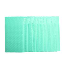 Bubbeltjes envelop - groen/turquoise - 25x15cm per stuk