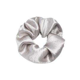 Scrunchie sweet as satin - zilver