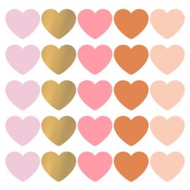 SOW & GROW pink Hearts - 10 stuks