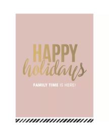Kerstkaart - Happy holidays